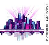 vector horizontal illustration... | Shutterstock .eps vector #1164404914