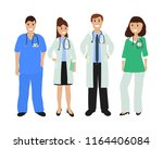 group of doctors in a hospital  ... | Shutterstock . vector #1164406084
