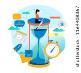 time management  planning... | Shutterstock .eps vector #1164408367