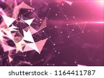 abstract geometric background... | Shutterstock . vector #1164411787