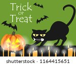 halloween background with witch ... | Shutterstock .eps vector #1164415651