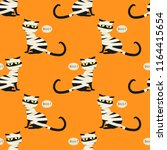 halloween seamless pattern with ...   Shutterstock .eps vector #1164415654