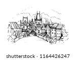Vector Illustration Of Prague...