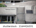the signage and brutalist... | Shutterstock . vector #1164426331