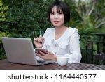 asian teenager girl. asian...   Shutterstock . vector #1164440977