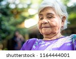 senior.grandmother. portrait of ... | Shutterstock . vector #1164444001