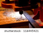 woodworking milling machine for ... | Shutterstock . vector #116445421