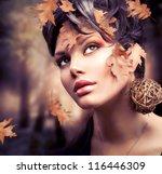 Autumn Woman. Fall. Beautiful...