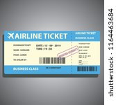 airline ticket for traveling by ... | Shutterstock .eps vector #1164463684