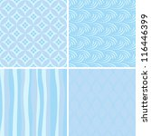 set of blue seamless patterns | Shutterstock .eps vector #116446399