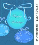 christmas card template with...   Shutterstock .eps vector #1164464164