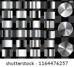 set of silver foil texture... | Shutterstock .eps vector #1164476257