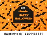 happy halloween. many... | Shutterstock . vector #1164485554
