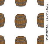 seamless pattern wooden barrel. ... | Shutterstock .eps vector #1164485617