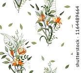 retro wild seamless flower... | Shutterstock .eps vector #1164489664
