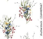 blooming  flowers. realistic... | Shutterstock .eps vector #1164489667