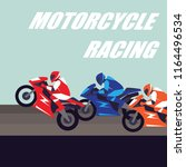 motorcycle racing poster and... | Shutterstock .eps vector #1164496534
