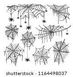 set of spider web vector... | Shutterstock .eps vector #1164498037