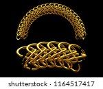 golden ornamental segment  ... | Shutterstock . vector #1164517417