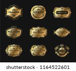metal plates golden collection. ... | Shutterstock .eps vector #1164522601