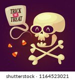 halloween card with smiling...   Shutterstock .eps vector #1164523021