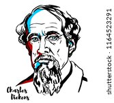 Charles Dickens Engraved Vecto...