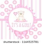 it's a girl   newborn baby... | Shutterstock .eps vector #1164525781