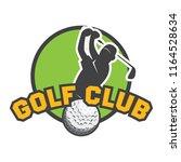 golf logo  emblems and insignia ... | Shutterstock .eps vector #1164528634