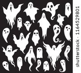 halloween ghosts. ghostly... | Shutterstock .eps vector #1164529801