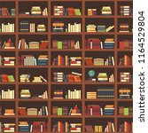 books in bookcase seamless... | Shutterstock .eps vector #1164529804