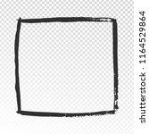 grunge square frame. black...   Shutterstock .eps vector #1164529864