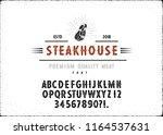 custom handwritten alphabet.... | Shutterstock .eps vector #1164537631