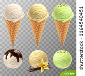 3d realistic vector ice cream... | Shutterstock .eps vector #1164540451