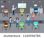 people work in the office.... | Shutterstock .eps vector #1164546784