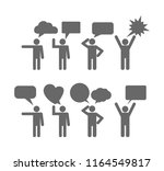person with speech bubble icon... | Shutterstock .eps vector #1164549817