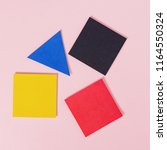 paper multicolored squares and... | Shutterstock . vector #1164550324