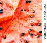 ripe cut watermelon. nature... | Shutterstock . vector #1164550351
