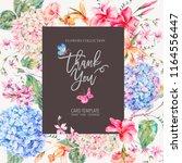 vector vintage floral greeting... | Shutterstock .eps vector #1164556447