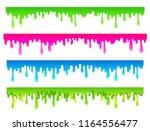 cartoon flowing down paint ... | Shutterstock . vector #1164556477