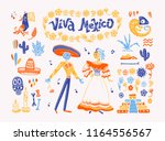big vector set of mexico... | Shutterstock .eps vector #1164556567