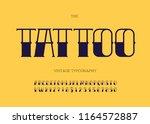 vector tattoo font black color. ... | Shutterstock .eps vector #1164572887