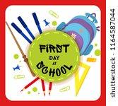 welcome back to school label ... | Shutterstock .eps vector #1164587044