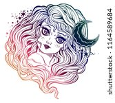magic fairy of the night and... | Shutterstock .eps vector #1164589684