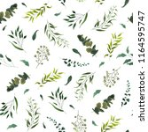 seamless pattern with green...   Shutterstock .eps vector #1164595747