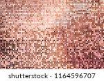 Pink Rose Gold Square Mosaic...