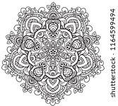 black and white mandala vector... | Shutterstock .eps vector #1164599494