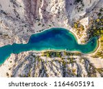 zavratnica is a 900 m long... | Shutterstock . vector #1164605191