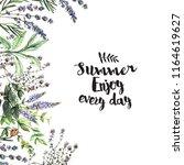 watercolor decorative...   Shutterstock . vector #1164619627