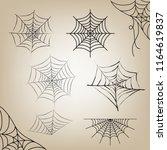 cobweb set halloween for object ... | Shutterstock .eps vector #1164619837