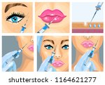 cosmetic facial wrinkle...   Shutterstock .eps vector #1164621277